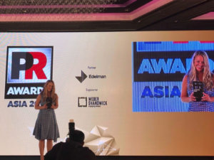Campaign Asia PR Asia Awards 2018 - Kiri Sinclair