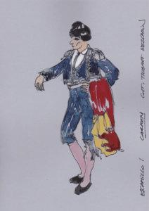 Opera Hong Kong - Carmen - Costume Sketch - Escamillo (1)
