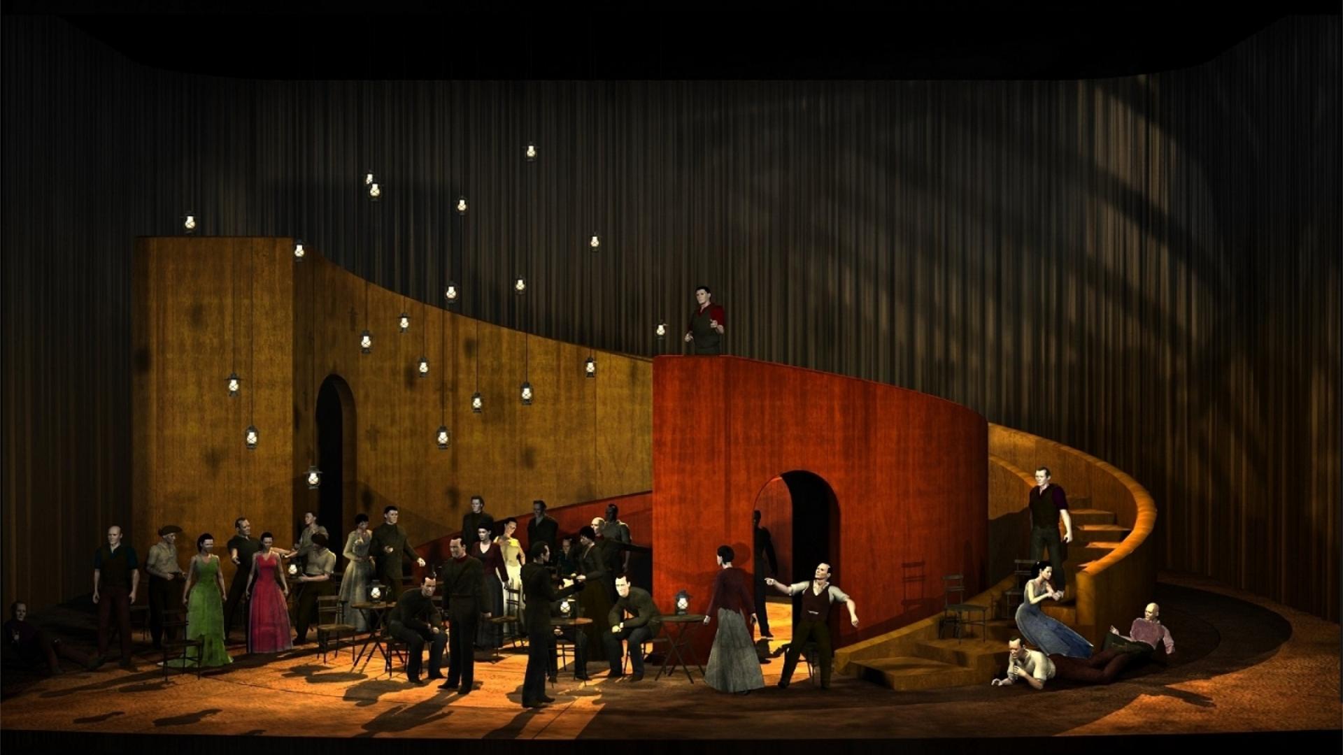 Opera Hong Kong - Carmen set design