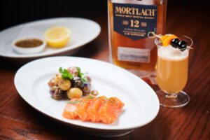 Mortlach 12-Year-Old (The Wee Witchie) x House smoked salmon